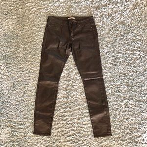 Sz 28 Rich & Skinny Black Coated Jeans